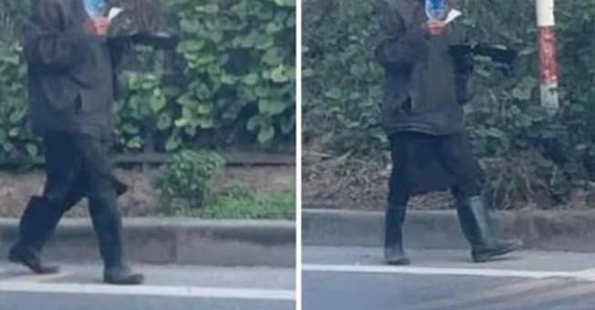 Hình ảnh T. đăng tải trên Facebook cho rằng nhóm người này đến Tiền Giang gây hoang mang dư luận.