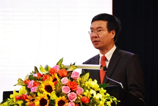 Đồng chí Võ Văn Thưởng, Trưởng Ban Tuyên giáo Trung ương, phát biểu tại Hội thảo - Ảnh: VGP/Thế Phong.