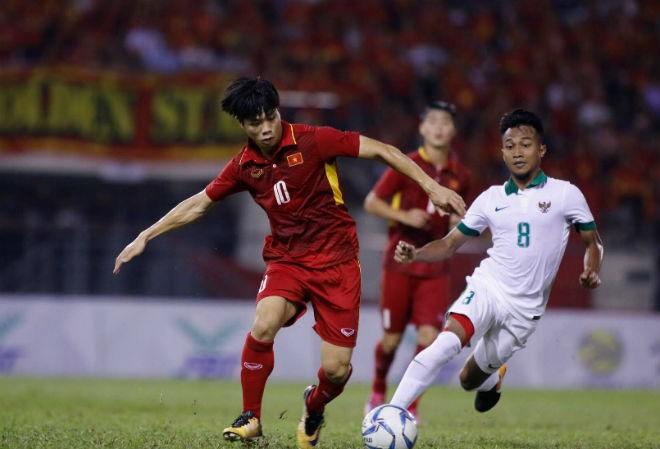 Công Phượng và các đồng đội đã thiếu may mắn để có thể thắng Indonesia.