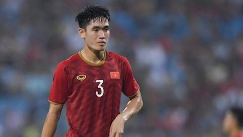 Huỳnh Tấn Sinh sẽ vắng mặt ở trận đấu của U22 Việt Nam với U22 Lào vào ngày mai, 28/11.