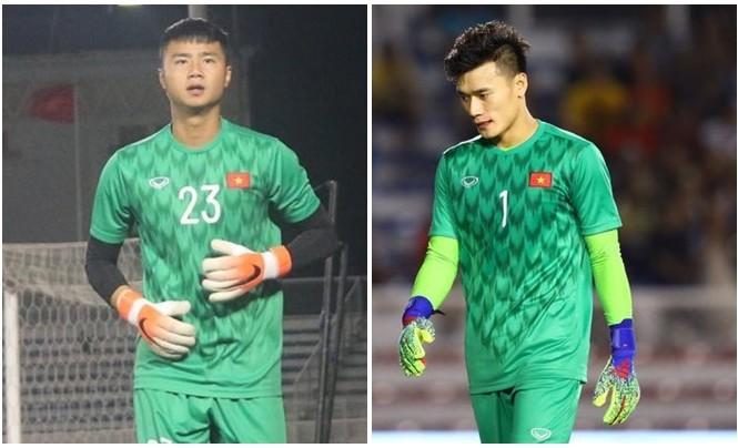 Bùi Tiến Dũng và Văn Toản đều mắc sai lầm trong các trận đấu gần đây. HLV Park Hang Seo sẽ chọn ai?