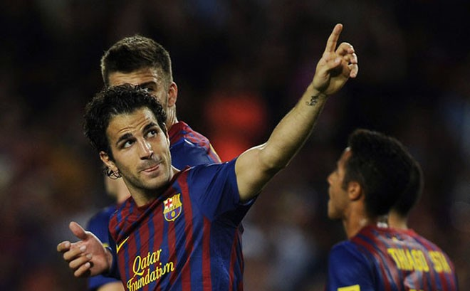 """Fabregas đứng đầu danh sách """"Vua kiến tạo"""" ở châu Âu."""
