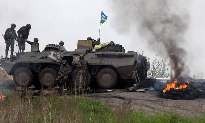 Quân đội Ukraine đã tiếp tục mở cuộc tấn công vào Slaviansk vào sáng nay (giờ địa phương).