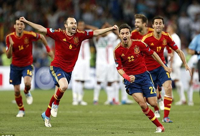 Tuyển Tây Ban Nha của  Andres Iniesta có giá trị gấp 11 lần so với tuyển Australia.