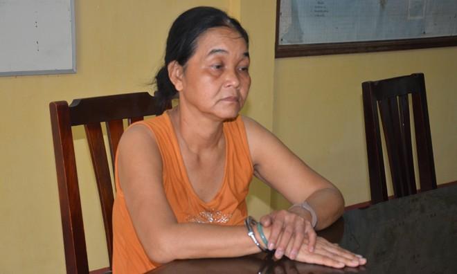 Đối tượng Nguyễn Thị Phước tại cơ quan điều tra.