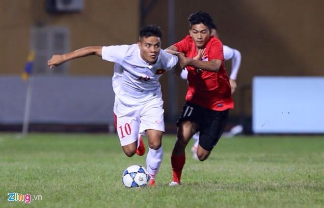U19 Việt Nam bị U19 Singapore cầm hòa ở trận ra quân tối nay. Ảnh: Zing