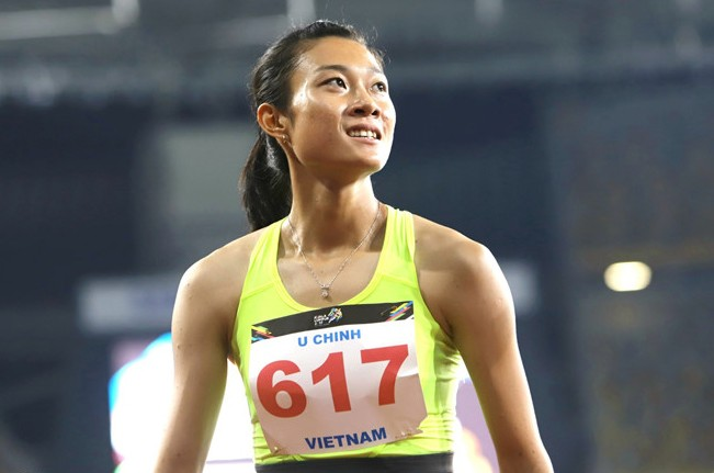Tú Chinh trở thành nhà vô địch 100m nữ ở SEA Games 29. Ảnh: Zing