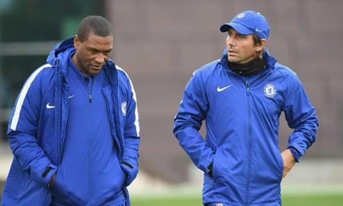 Michael Emenalo và Conte khi làm việc cùng nhau. Ảnh: AFP.
