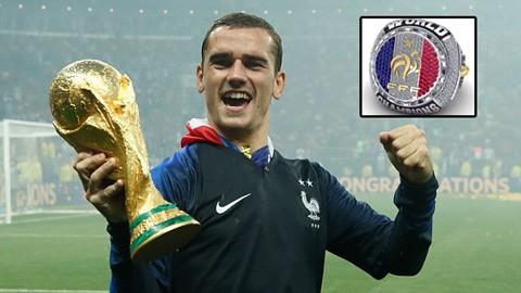 Tiền đạo tuyển Pháp khoe nhẫn kim cương mừng vô địch World Cup