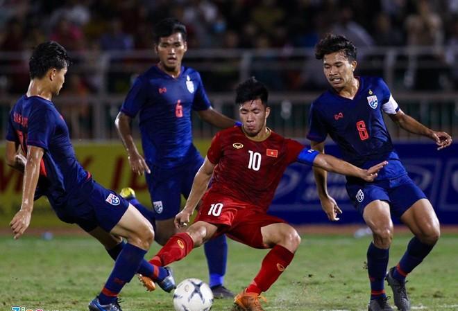 U18 Việt Nam gây thất vọng khi hòa U18 Thái Lan 0-0. Ảnh: Zing