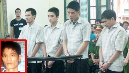 Nguyễn Văn Việt (ảnh nhỏ) và 4 đối tượng tham gia truy sát Giám đốc BV Nhanh Nhàn