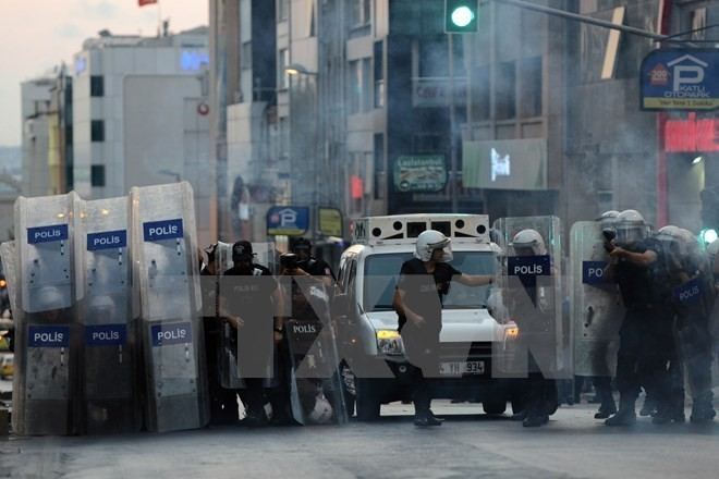 Cảnh sát Thổ Nhĩ Kỳ. (Nguồn: AFP/TTXVN)