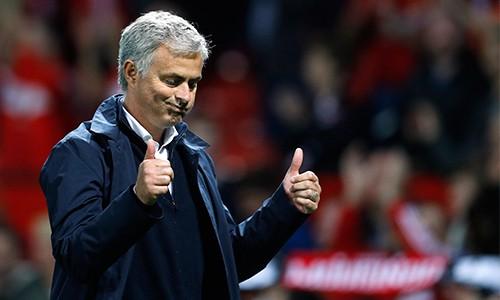Mourinho thừa nhận không thể đòi hỏi nhiều hơn từ các học trò, dù có chút tiếc nuối vì Man Utd không thể thắng đậm hơn. Ảnh: Reuters.