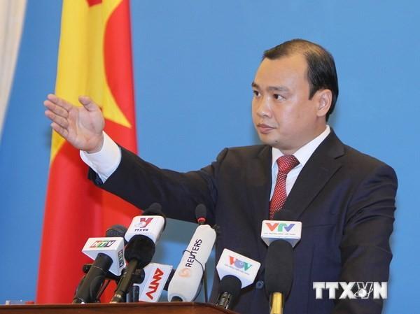 Người Phát ngôn Bộ Ngoại giao Việt Nam Lê Hải Bình. Ảnh: TTXVN