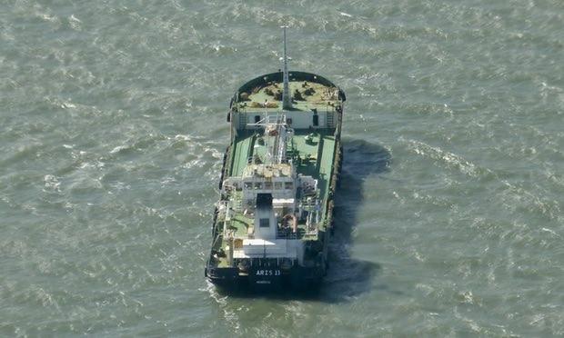 Tàu chở dầu Aris 13 vào năm 2014. Ảnh: AP