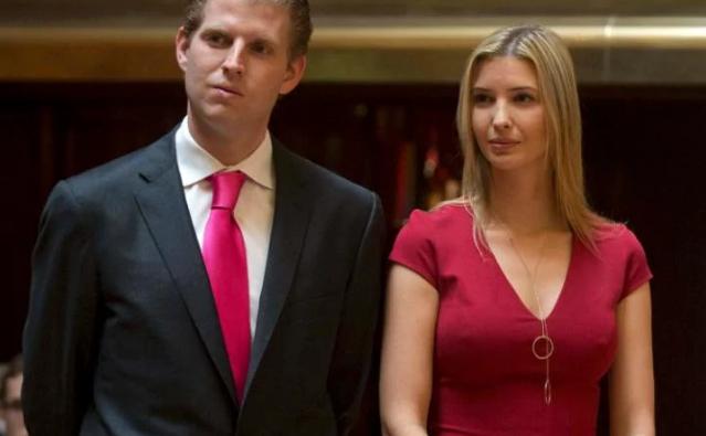Eric (trái) và Ivanka Trump.
