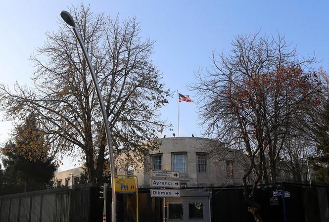 Đại sứ quán Mỹ tại Thổ Nhĩ Kỳ. Ảnh: AFP
