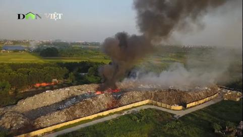 Bản tin 8H: 'Sơn gai ốc' hàng trăm tấn rác 'nhả khỏi' ở Hưng Yên
