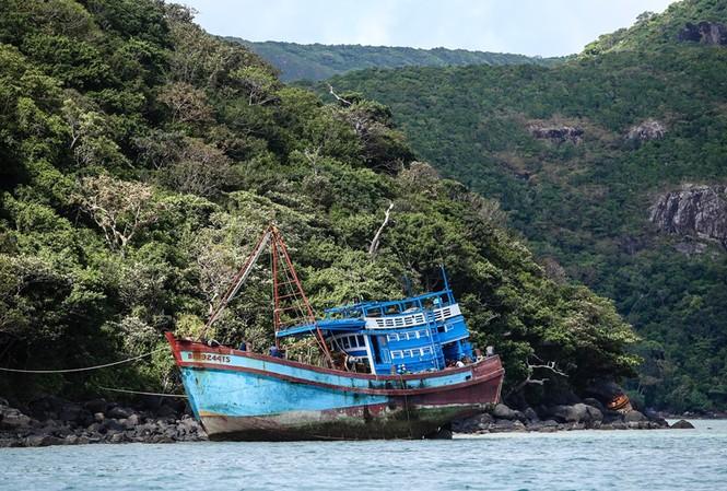 Bão số 1 đang cách Côn Đảo không xa. Ảnh minh hoạ