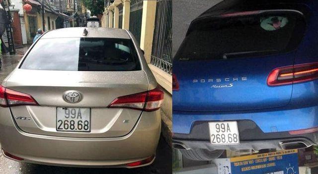 Hình ảnh 2 chiếc xe trùng BKS xôn xao trên mạng xã hội những ngày qua
