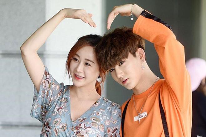 Hoa hậu Hàn Quốc Ham So Won và chồng kém 18 tuổi Trần Hoa.