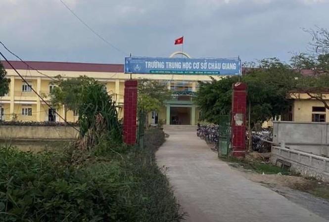 Trường THCS Châu Giang - nơi xảy ra sự việc.