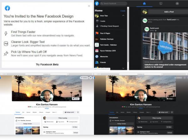 Facebook mời dùng thử giao diện web mới, có chế độ ban đêm huyền bí