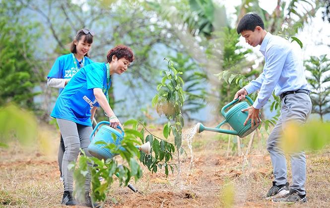Tết trồng cây hưởng ứng chương trình Vì một Việt Nam xanh