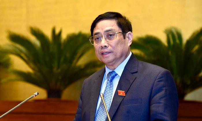 Thủ tướng báo cáo Quốc hội về tình hình kinh tế, xã hội. Ảnh: Nhật Minh