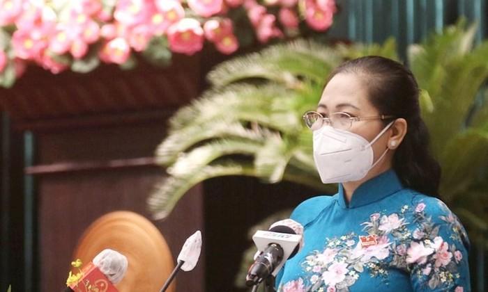 Chủ tịch HĐND TPHCM Nguyễn Thị Lệ phát biểu khai mạc kỳ họp
