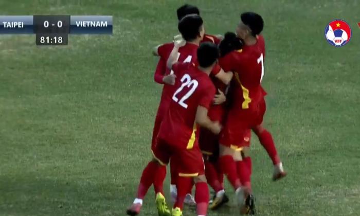 U23 Việt Nam vs U23 Đài Loan (Trung Quốc) 1-0: Chiến thắng nhọc nhằn