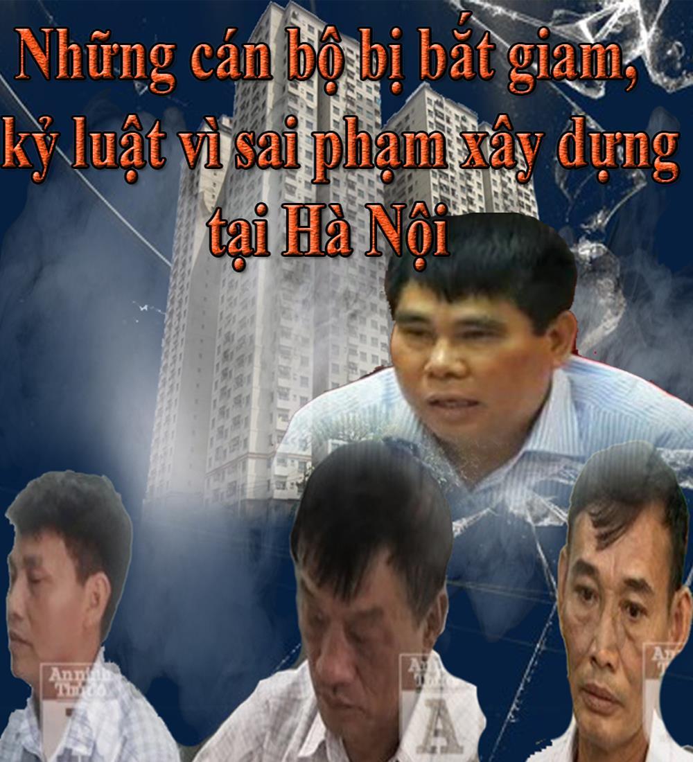 Những cán bộ bị bắt giam, kỷ luật vì sai phạm xây dựng tại Hà Nội
