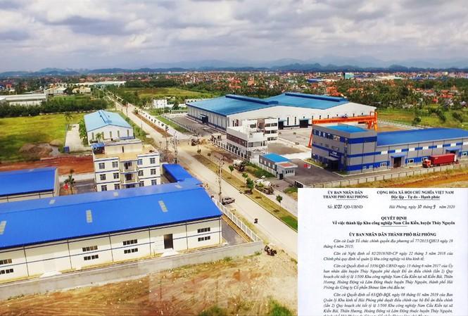 Sau 12 năm được cấp giấy chứng nhận đầu tư, đến 30/9/2020 KCN Nam Cầu Kiền đã được cấp quyết định thành lập