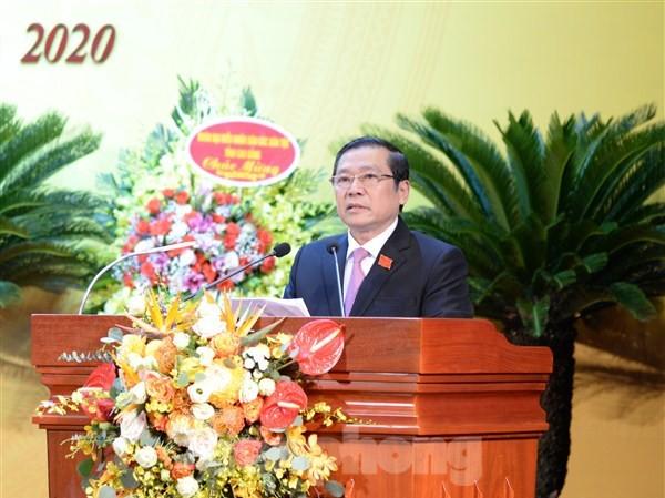 Đồng chí Lại Xuân Môn tái đắc cử Bí thư tỉnh ủy Cao Bằng .Ảnh: CB