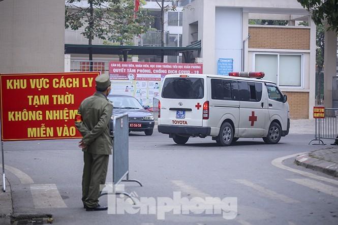Trường tiểu học Xuân Phương (Hà Nội), nơi cách ly 80 học sinh, giáo viên F1. (ẢNH: DUY PHẠM).