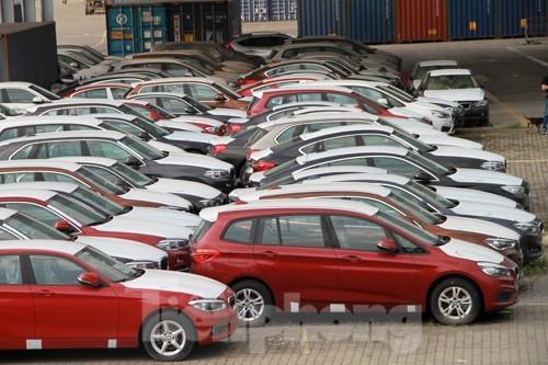 Ô tô nhập khẩu về Việt Nam qua cảng Cát Lái. Ảnh: Tuấn Nguyễn