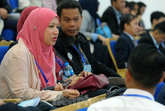 140 Tiến sỹ, nhà khoa học trẻ Việt Nam và các nước ASEAN tham dự Hội nghị. Ảnh: Xuân Tùng
