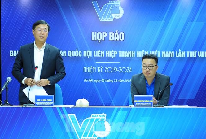 Họp báo thông tin Đại hội Hội LHTN Việt Nam lần thứ VIII. Ảnh: Xuân Tùng