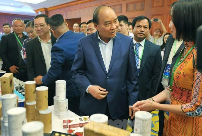 Thủ tướng Nguyễn Xuân Phúc dự và chủ trì chương trình đối thoại tại Diễn đàn Thanh niên khởi nghiệp đổi mới sáng tạo. Ảnh: Xuân Tùng