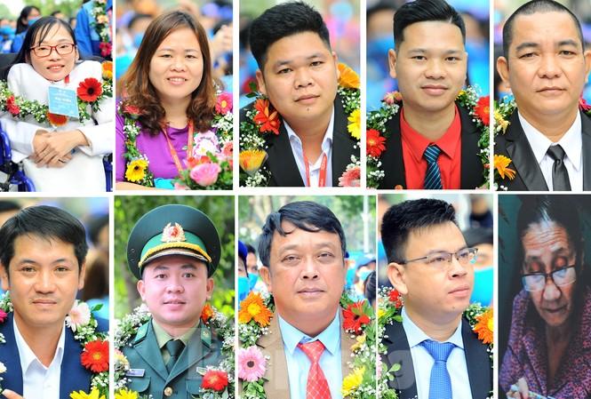 Chân dung 10 cá nhân đạt giải thưởng Tình nguyện Quốc gia 2020. Ảnh: Xuân Tùng