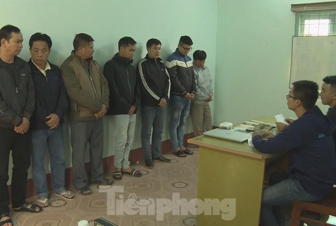 Nhóm đối tượng khi bị bắt giữ