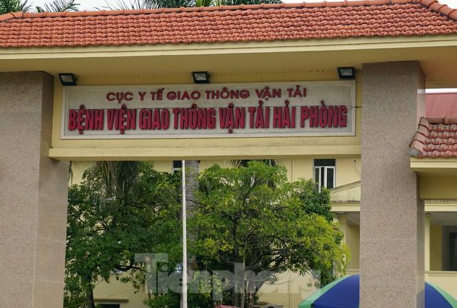 Bệnh viện GTVT Hải Phòng, nơi 2 điều dưỡng dương tính SARS-CoV-2 làm việc.
