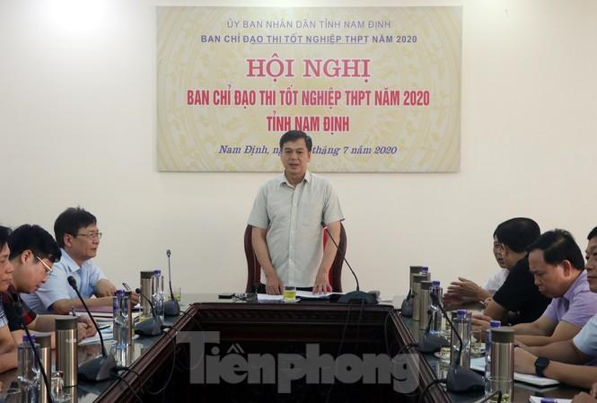 Ban Chỉ đạo kỳ thi tốt ngiệp PTTH Nam Định triển khai các hoạt động chuẩn bị cho kỳ thi - Ảnh: Hoàng Long