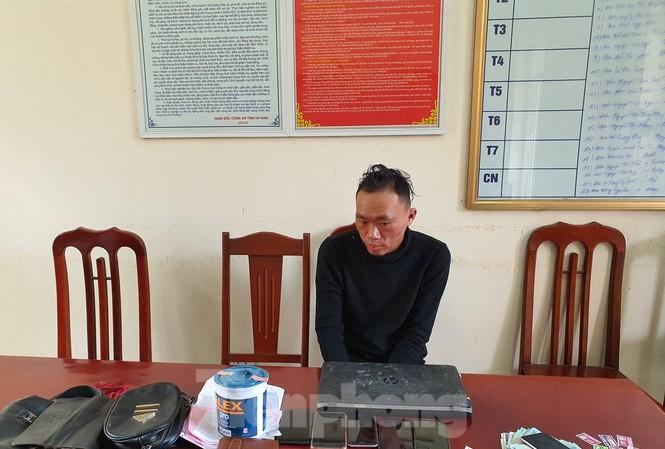 Tên trộm Trần Ngọc Xiêm có thành tịch gây ra hơn 30 vụ trộm từ Nghệ An ra Hà Nội - Ảnh: Hoàng Long