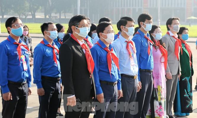344 đại biểu Đại hội Cháu ngoan Bác Hồ toàn quốc lần thứ IX báo công dâng Bác - ảnh 2