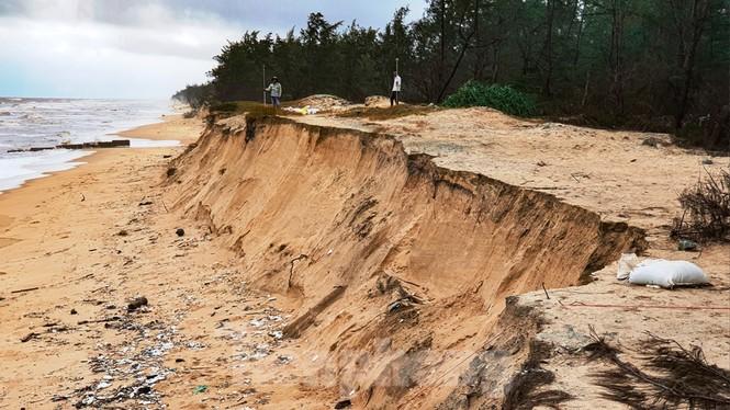 Bão tan lũ rút, bờ biển Thừa Thiên Huế tan hoang như trúng bom - ảnh 10