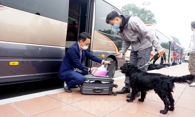 Cảnh khuyển tham gia rà soát xe phục vụ Đại hội - ảnh 4