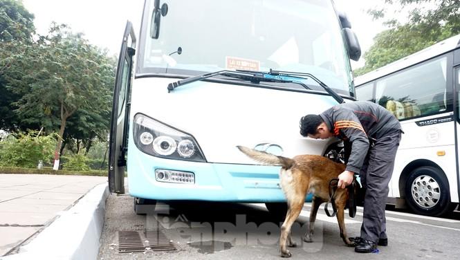 Cảnh khuyển tham gia rà soát xe phục vụ Đại hội - ảnh 7