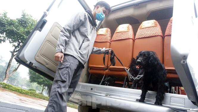 Cảnh khuyển tham gia rà soát xe phục vụ Đại hội - ảnh 8