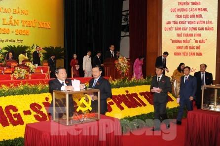 Đồng chí Lại Xuân Môn tái đắc cử Bí thư tỉnh ủy Cao Bằng  - ảnh 2